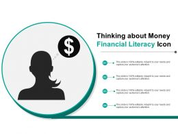 Thinking About Money Financial Literacy Icon