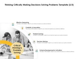 Thinking Critically Making Decisions Solving Problems Innovation Ppt Slides