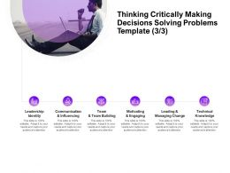 Thinking Critically Making Decisions Solving Problems Leadership Ppt Powerpoint Presentation Slides