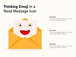 Thinking Emoji In A Read Message Icon