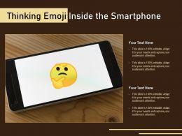 Thinking Emoji Inside The Smartphone