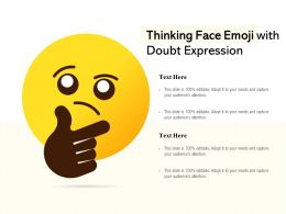 Thinking Face Emoji With Doubt Expression