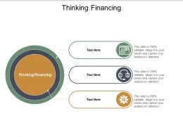 Thinking Financing Ppt Powerpoint Presentation Professional Clipart Images Cpb