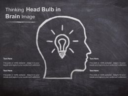 Thinking Head Bulb In Brain Image