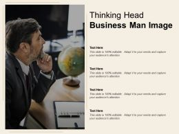 Thinking Head Business Man Image