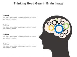 Thinking Head Gear In Brain Image