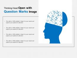 Thinking Head Open With Question Marks Image