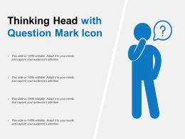 Thinking Head With Question Mark Icon