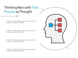 Thinking Man With Flow Process As Thought