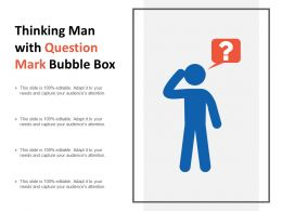 Thinking Man With Question Mark Bubble Box