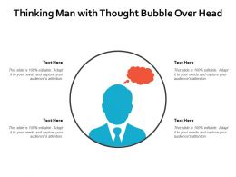 Thinking Man With Thought Bubble Over Head