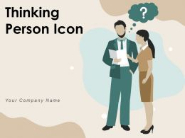 Thinking Person Icon Business Gear Innovative Employee Career Marketing Revenue