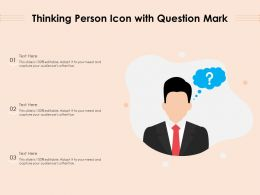 Thinking Person Icon With Question Mark
