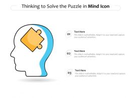 Thinking To Solve The Puzzle In Mind Icon