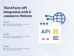 Third Party API Integration With E Commerce Website