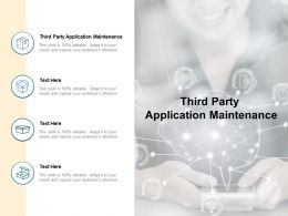 Third Party Application Maintenance Ppt Powerpoint Presentation Layouts File Formats Cpb