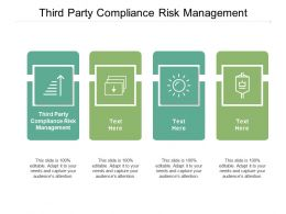 Third Party Compliance Risk Management Ppt Powerpoint Presentation Slides Graphics Example Cpb