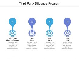 Third Party Diligence Program Ppt Powerpoint Presentation Summary Layouts Cpb