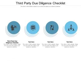 Third Party Due Diligence Checklist Ppt Powerpoint Presentation Icon Design Ideas Cpb