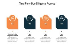 Third Party Due Diligence Process Ppt Powerpoint Presentation Layouts Background Cpb