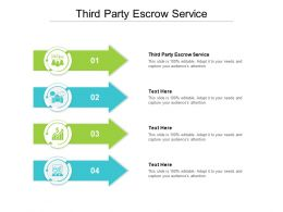 Third Party Escrow Service Ppt Powerpoint Presentation Model Example Introduction Cpb