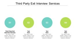 Third Party Exit Interview Services Ppt Powerpoint Presentation Icon Samples Cpb