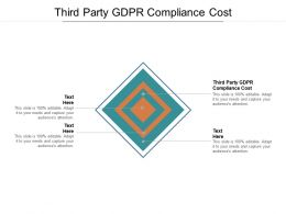 Third Party GDPR Compliance Cost Ppt Powerpoint Presentation Infographics Cpb