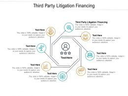 Third Party Litigation Financing Ppt Powerpoint Presentation Show Information Cpb
