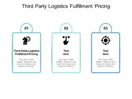Third Party Logistics Fulfillment Pricing Ppt Powerpoint Presentation Pictures Influencers Cpb