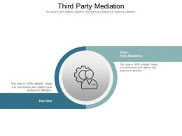 Third Party Mediation Ppt Powerpoint Presentation Deck Cpb