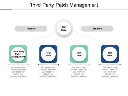 Third Party Patch Management Ppt Powerpoint Presentation Show Display Cpb
