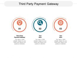Third Party Payment Gateway Ppt Powerpoint Presentation Pictures Objects Cpb