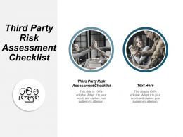 Third Party Risk Assessment Checklist Ppt Powerpoint Presentation Ideas Gallery Cpb