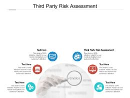 Third Party Risk Assessment Ppt Powerpoint Presentation Gallery Templates Cpb