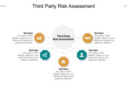 Third Party Risk Assessment Ppt Powerpoint Presentation Layouts Brochure Cpb