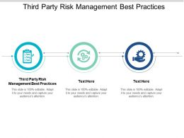 Third Party Risk Management Best Practices Ppt Powerpoint Presentation Styles Good Cpb
