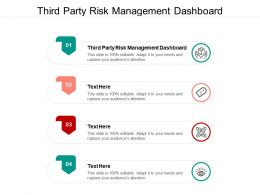 Third Party Risk Management Dashboard Ppt Powerpoint Presentation Portfolio Graphic Images Cpb