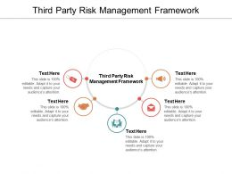 Third Party Risk Management Framework Ppt Powerpoint Presentation Inspiration Cpb