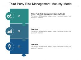 Third Party Risk Management Maturity Model Ppt Powerpoint Presentation Icon Graphics Template Cpb