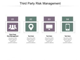 Third Party Risk Management Ppt Powerpoint Presentation Icon Gallery Cpb