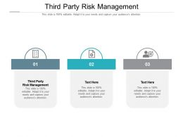 Third Party Risk Management Ppt Powerpoint Presentation Icon Visual Aids Cpb