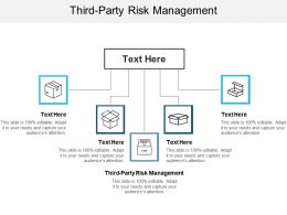 Third Party Risk Management Ppt Powerpoint Presentation Summary File Formats Cpb