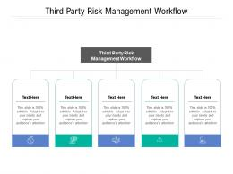 Third Party Risk Management Workflow Ppt Powerpoint Presentation Styles Images Cpb