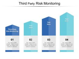Third Party Risk Monitoring Ppt Powerpoint Presentation Diagram Lists Cpb