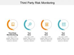 Third Party Risk Monitoring Ppt Powerpoint Presentation Infographic Template Cpb
