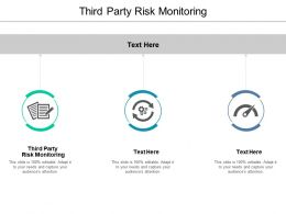 Third Party Risk Monitoring Ppt Powerpoint Presentation Layouts Examples Cpb