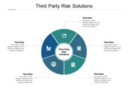 Third Party Risk Solutions Ppt Powerpoint Presentation Model Graphics Pictures Cpb