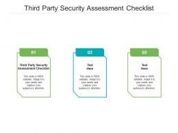 Third Party Security Assessment Checklist Ppt Powerpoint Presentation Model Skills Cpb