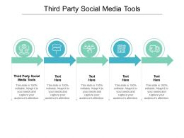 Third Party Social Media Tools Ppt Powerpoint Presentation Infographics Graphics Cpb