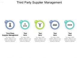 Third Party Supplier Management Ppt Powerpoint Presentation Slides Mockup Cpb